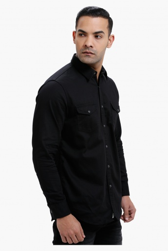 Lee Cooper Long Sleeves Cotton Shirt with Complete Placket