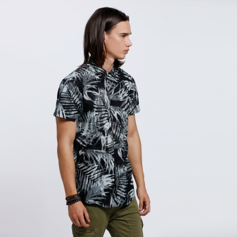 Lee Cooper Printed Shirt with Short Sleeves