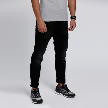 Lee Cooper Full Length Distressed Jeans