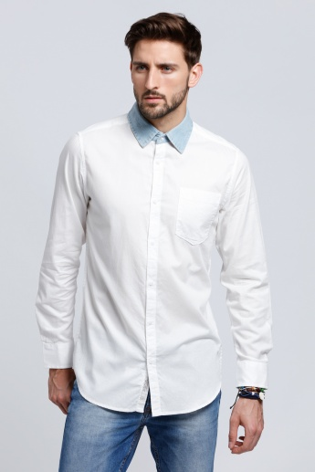 Lee Cooper Long Sleeves Shirt with Complete Placket on the Front