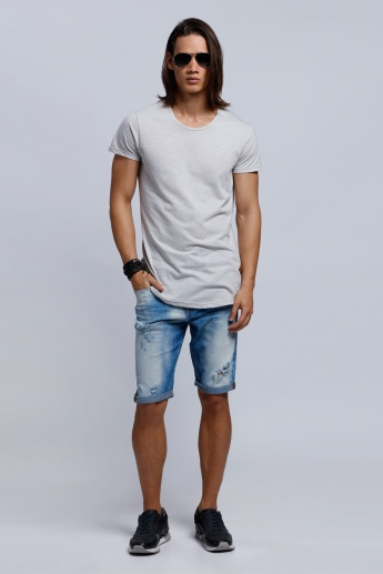 Organic Blend Lee Cooper Short Sleeves T-Shirt with Crew Neck