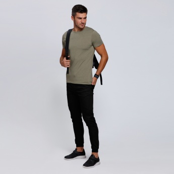 Lee Cooper Round Neck T-Shirt with Short Sleeves
