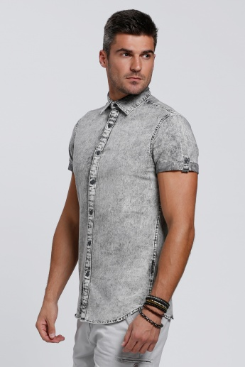 Lee Cooper Shirt with Short Sleeves and Complete Placket