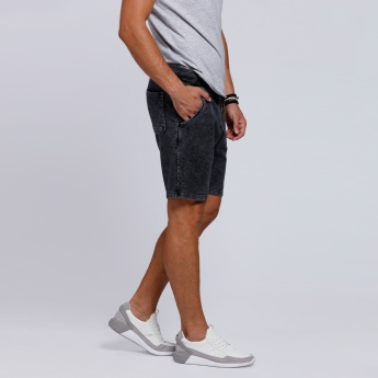 Lee Cooper Textured Shorts with Drawstring