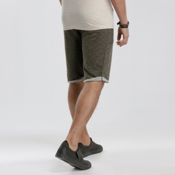 Knee Length Shorts with Pockets on the Sides