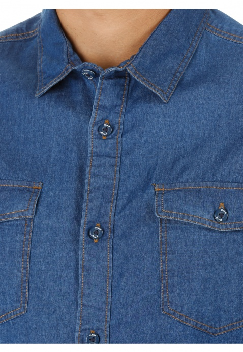 Long Sleeves Denim Shirt
