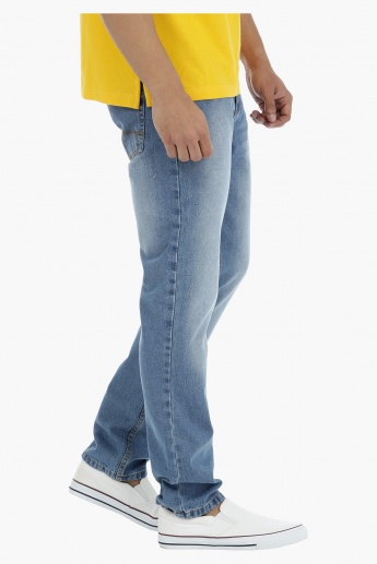 Full Length Stone Wash Jeans