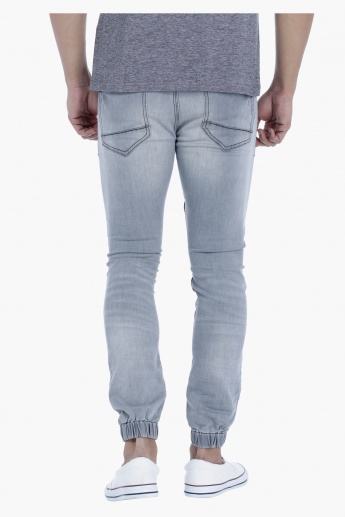 Denim Biker Joggers in Regular Fit