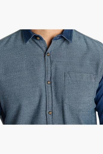 Long Sleeves Cotton Shirt in Slim Fit