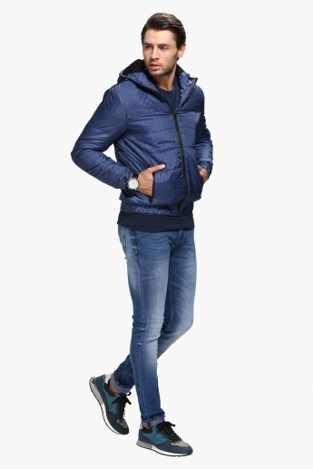 Puffa Jacket with Hood and Long Sleeves