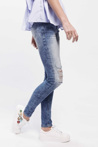 Full Length Distressed Jeans