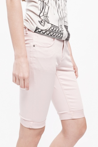 Cycling Shorts with Roll-Up Hem