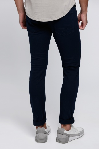 Full Length Jeans with Buttoned Closure and Zip Fly