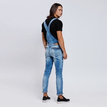 Denim Dungarees with Multiple Pockets