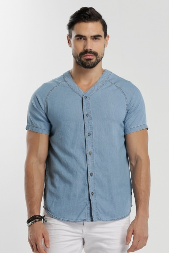 V-Neck Shirt with Short Sleeves