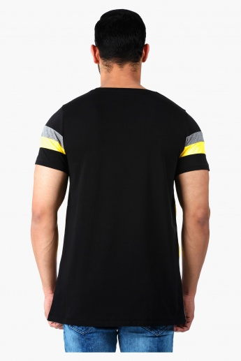 Crew Neck T-Shirt with Short Sleeves in Regular Fit