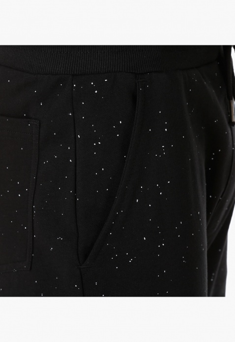 Knit Shorts with Splatter Effect