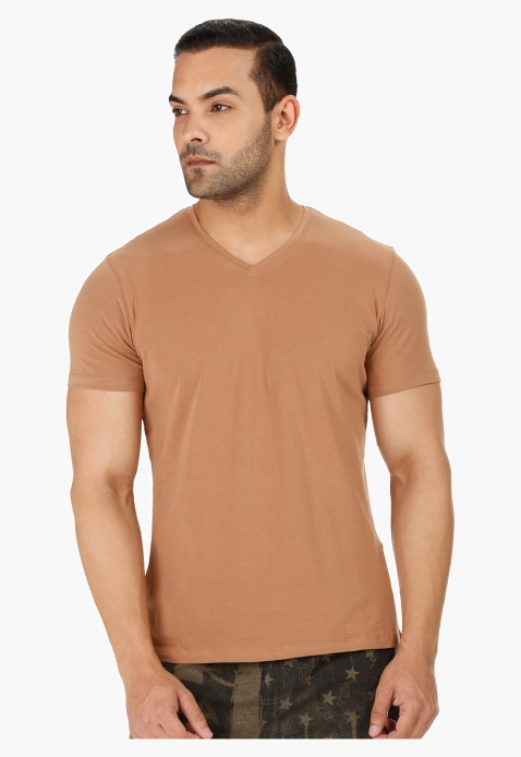 Casual V Neck T-Shirt