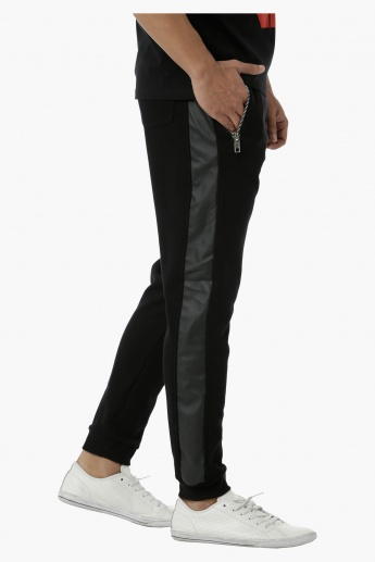 Jog Pants with Zip Detail in Regular Fit
