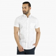 Cotton Shirt with All Over Print in Regular Fit