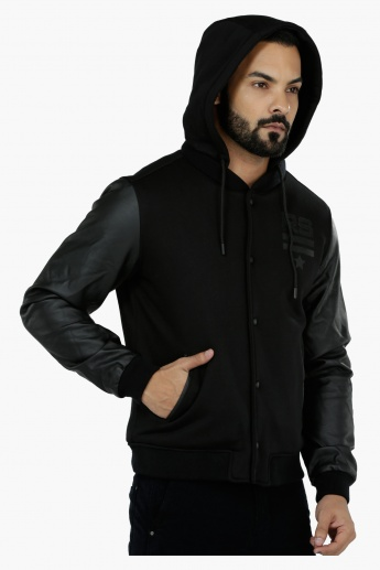 Hooded Biker Sweatshirt