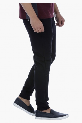 Slim Fit Jog Pants with Drawstring