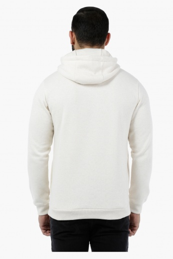 Printed Full-sleeved Hooded Sweatshirt