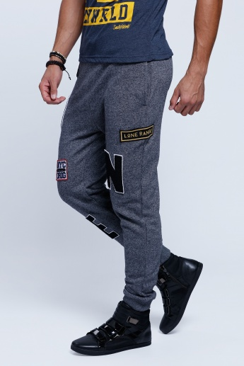 Printed Full Length Jog Pants with Pocket Detail