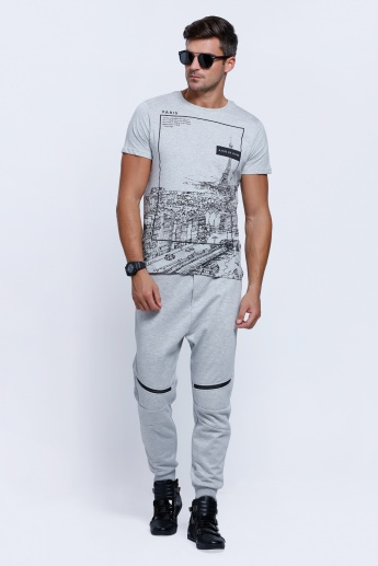 Printed Short Sleeves T-Shirt with Crew Neck