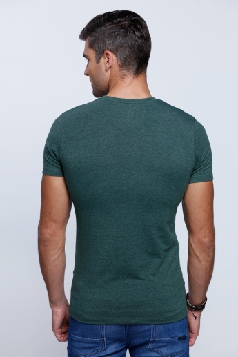 Short Sleeves T-Shirt with V-Neckline