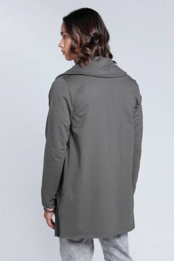 Jacket with Zip Detail and Long Sleeves