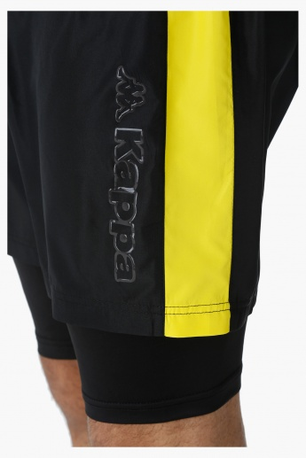 Kappa Mesh Shorts With Extended Inner Tights