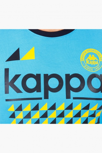 Kappa Printed Cotton T-Shirt in and Short Sleeves