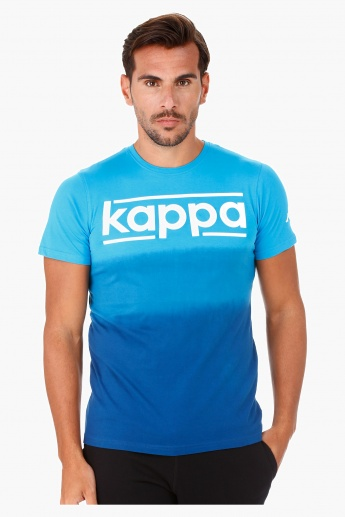 Kappa Ombre Cotton T-Shirt with Crew Neck and Short Sleeves