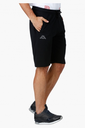 Kappa Embroidered Cotton Shorts