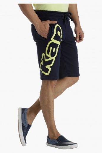 Kappa Printed Jog Shorts in Regular Fit