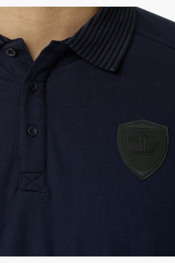 Kappa Polo Neck T-Shirt with Chest Applique