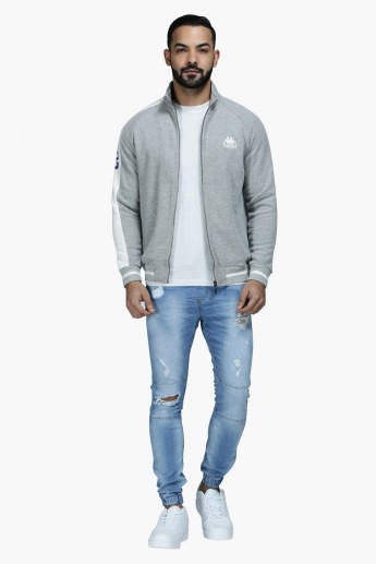 Kappa Jacket with Zip Detailing and Long Sleeves in Regular Fit