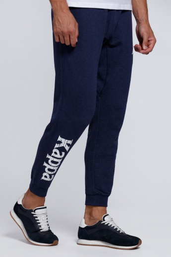 Kappa Printed Full Length Jog Pants with Elasticised Waistband