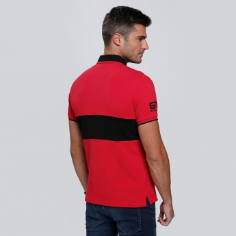 Kappa Printed Polo Neck T-Shirt with Short Sleeves
