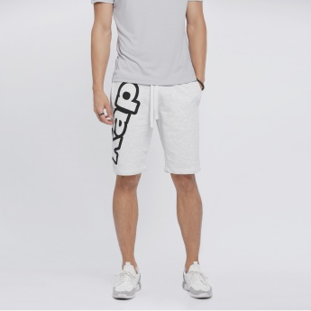 Kappa Printed Shorts with Drawstring