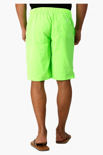 Boardshorts with Elasticated Waistband in Regular Fit