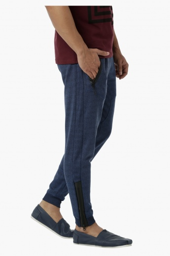 Cut and Sew Jog Pants in Regular Fit