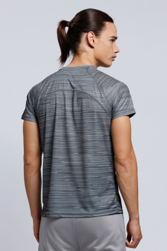 Printed T-Shirt with Raglan Sleeves and Round Neck