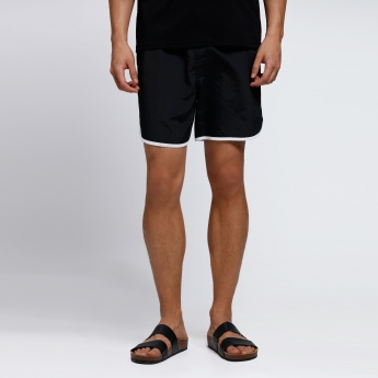 Shorts with Contrast Binding
