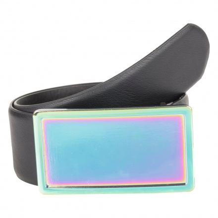 Broad Belt with Neon Buckle