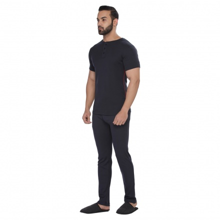 Solid Colour T-shirt and Pants Set