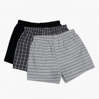Woven Cotton Boxers - Set of 3