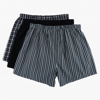 Woven Boxer Shorts - Set of 3