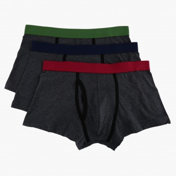 Hipster Boxers with Elasticised Waistband - Set of 3